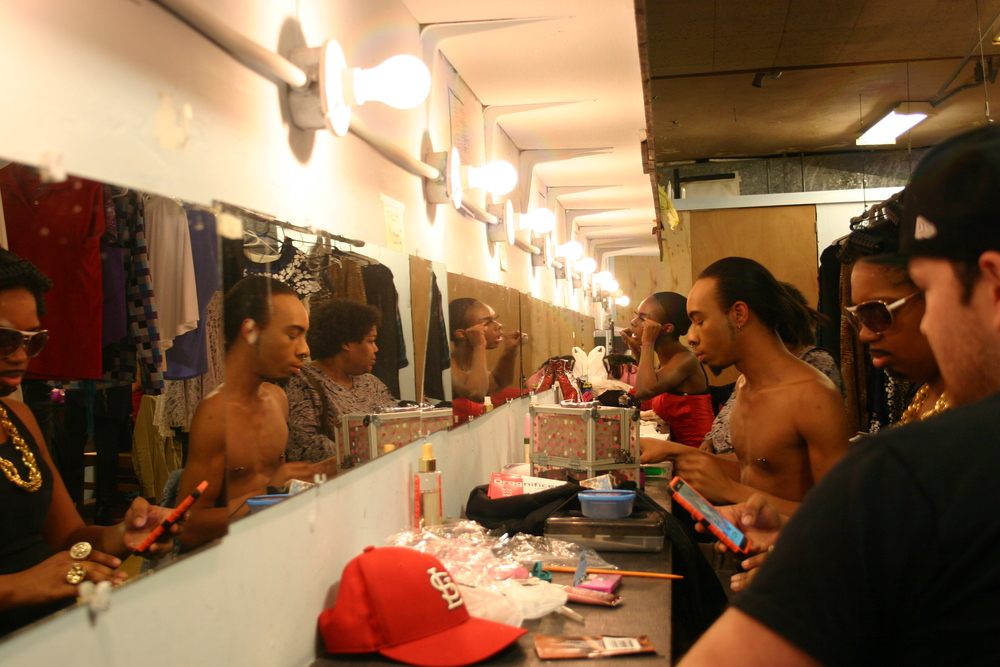 Back stage as the Kings and Queens Prepare    DragNificent Variety Show 2015    Copyright 2015 Out901.com. All rights reserved. This material may not be published, broadcast, rewritten, or redistributed.    Picture by Whitney Hardy