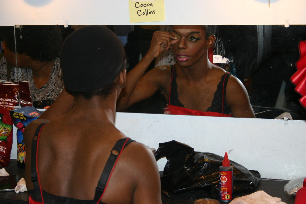Coco Collins Transforming into the diva, Aqua Netta    DragNificent Variety Show 2015    Copyright 2015 Out901.com. All rights reserved. This material may not be published, broadcast, rewritten, or redistributed.    Picture by Whitney Hardy