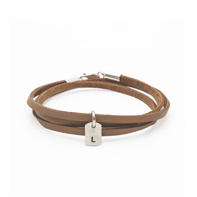 The initial soft leather wrap bracelet - from £18 plus free uk delivery. www.livto.co.uk