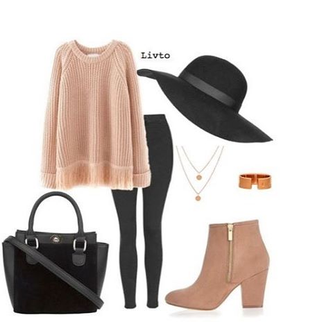Big knitted jumpers, floppy hats, ankle boots - accessorised with our Livto rose gold collection. Double coin necklace £30. Rose gold cuff ring £30. The perfect #autumn look #trend #instastyle #wiwt #wiw #livto #instagood #instajewelry #british #rosegold #ring #necklace #freedelivery