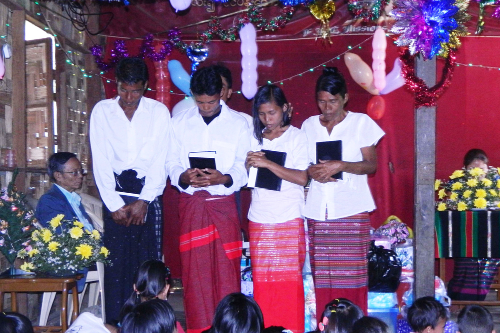 ...distribute Bibles and disciple new believers in the largely Buddhist country of Myanmar.