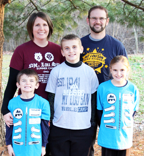 Philip & Elizabeth Drake, (l-r) Zachary, Caleb, & Alexa - Music & Camp Director