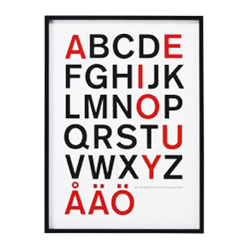 Font Friday Ikea Alphabet Poster Outside The Line