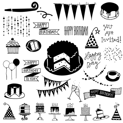 birthday doodles birthday doodles — Outside the Line birthday doodles