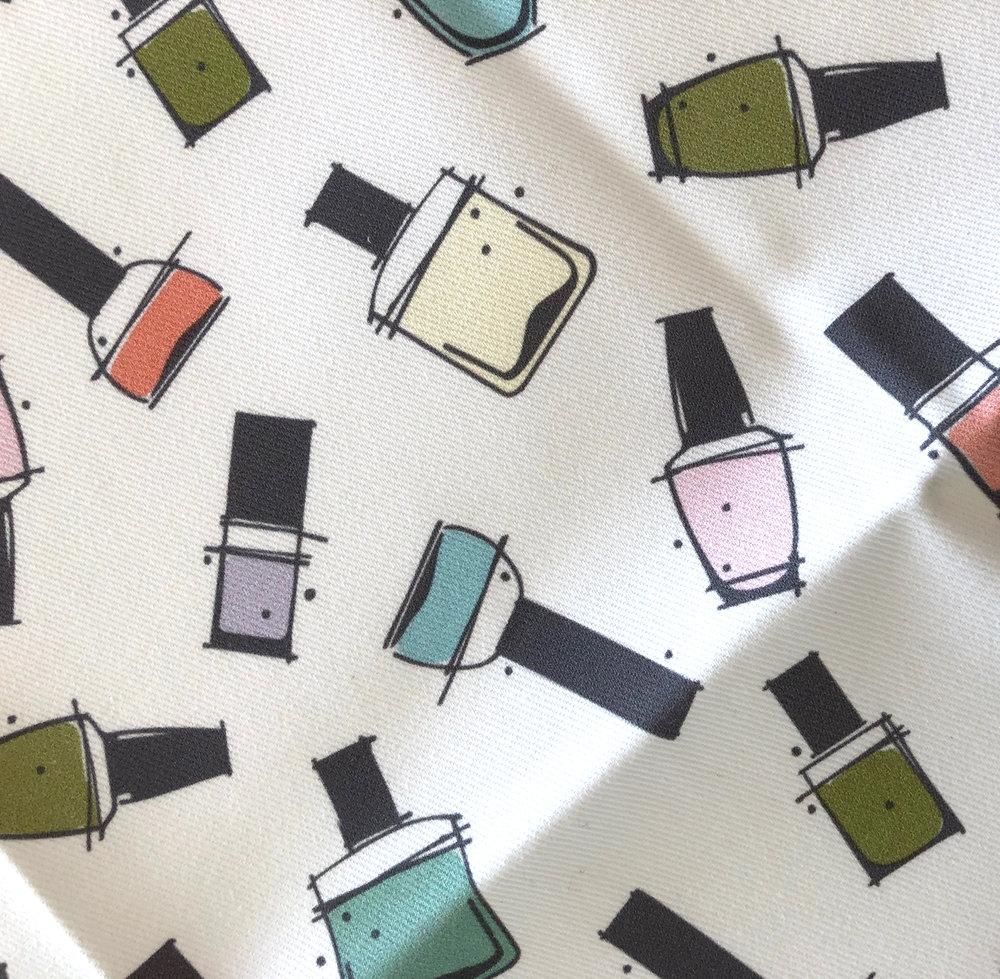 nail polish fabric by Rae Kaiser