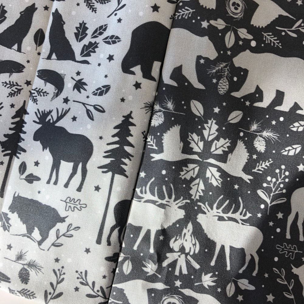wilderness animal print on Spoonflower by Rae Kaiser of outside_the_line