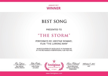 cd86a3549 The Storm Picked as Best Song at Festigious Awards