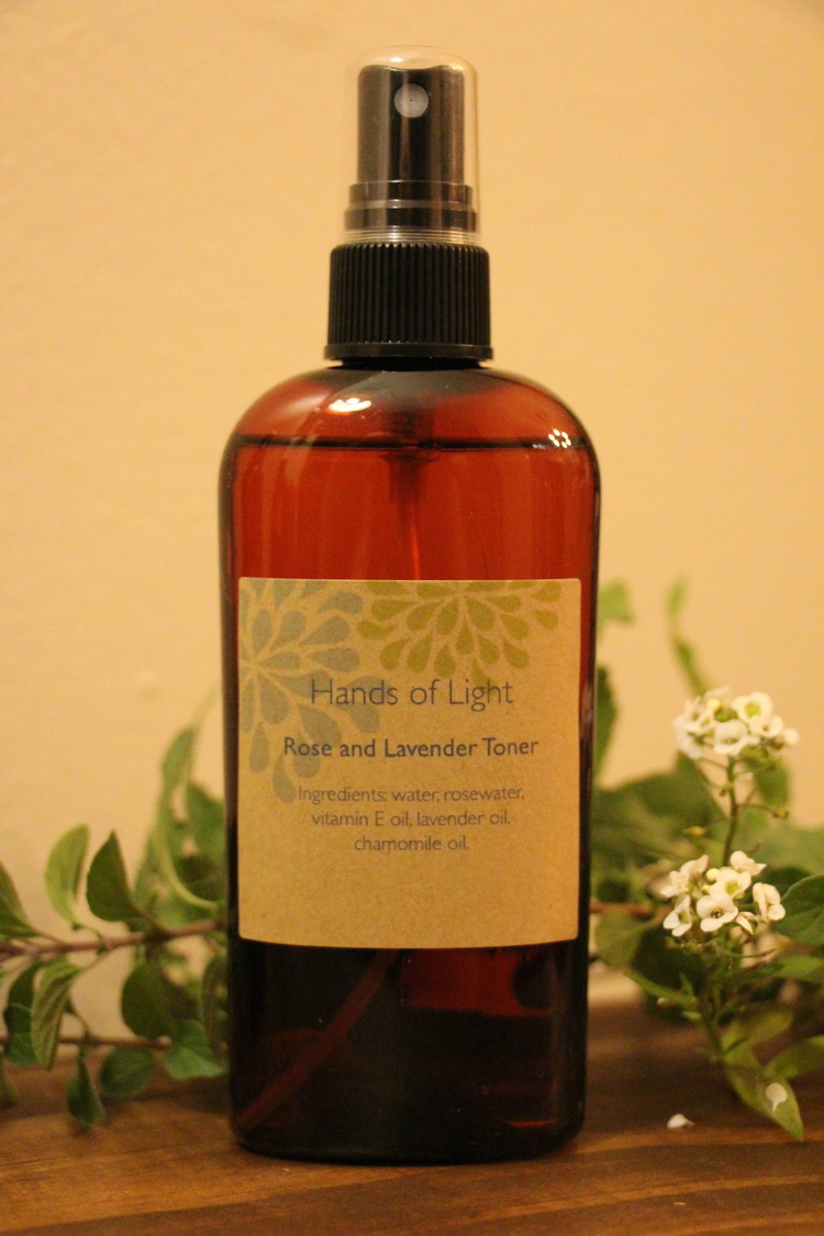 Try our natural Rose and Lavender Toner for only $16.00