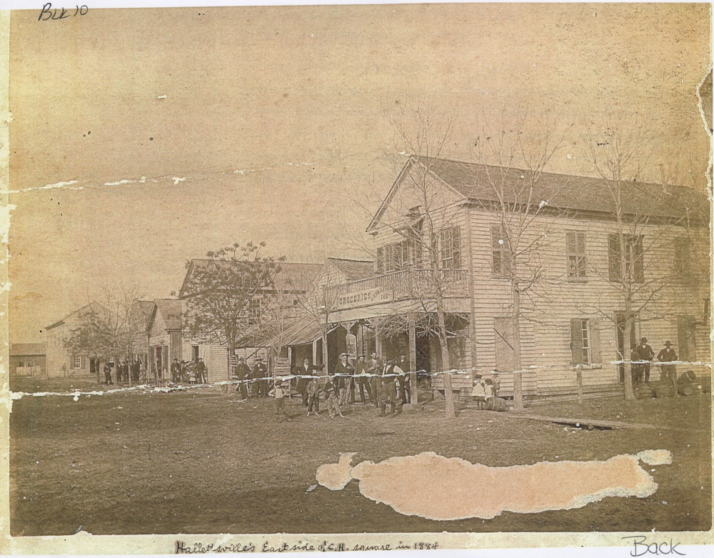 East side of Hallettsville square, 1884