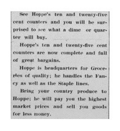 Advertisement, 1913