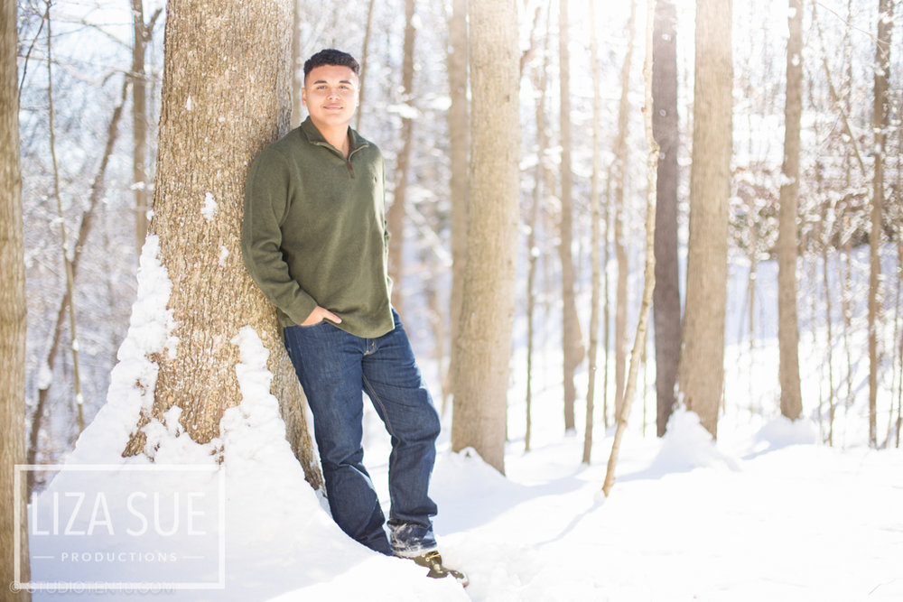 cleveland akron winter senior pictures guys