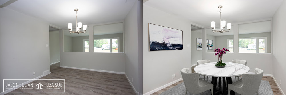 Virtual Staging Cleveland Akron before after