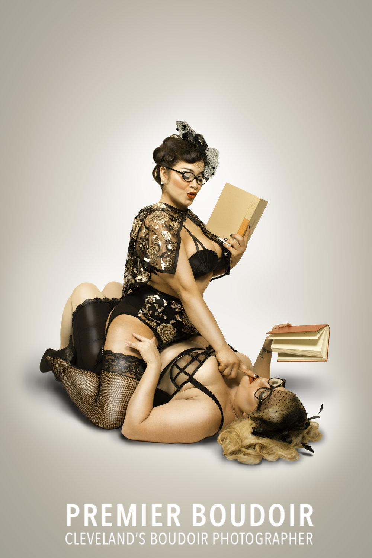 cleveland akron pinup retro boudoir due librarians vintage