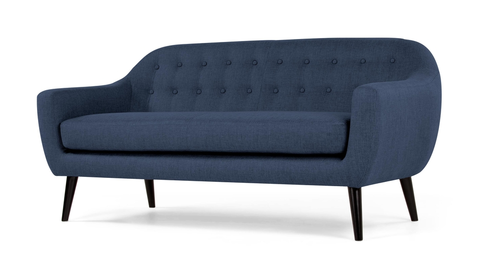blue retro sofa