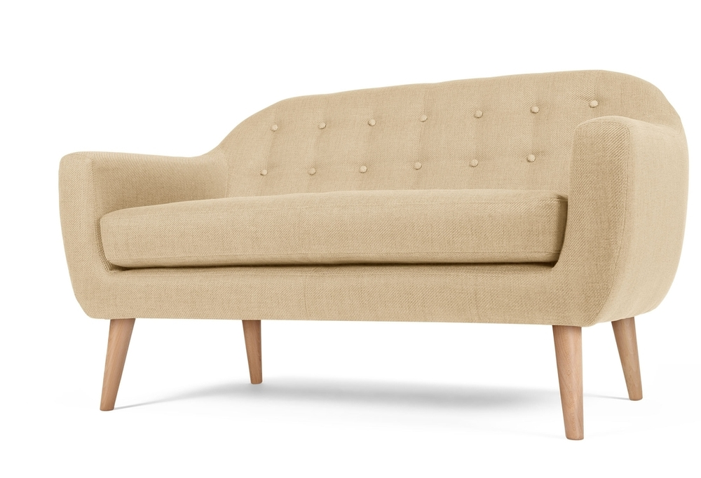 beige retro sofa