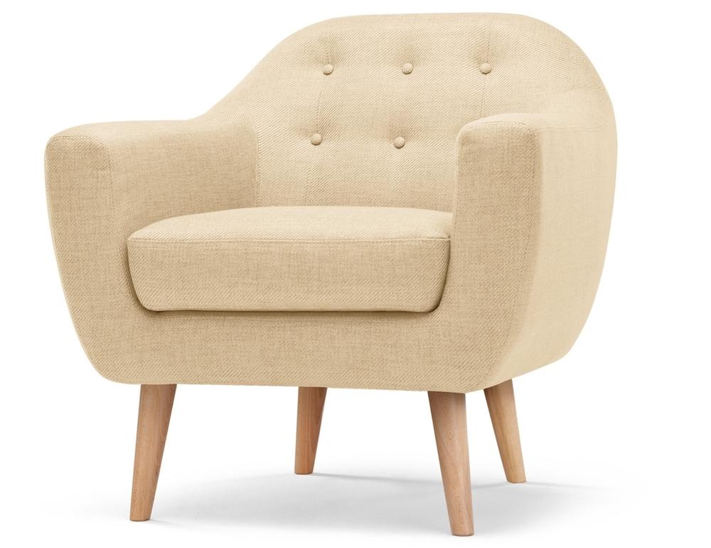 beige retro armchair