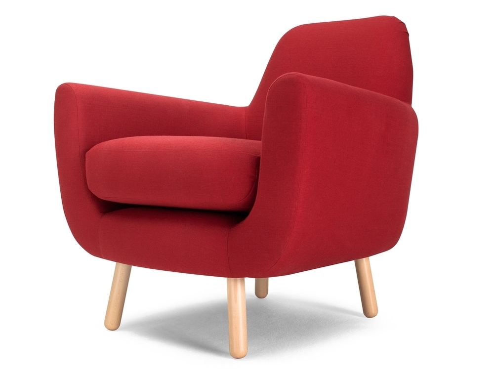 red retro armchair