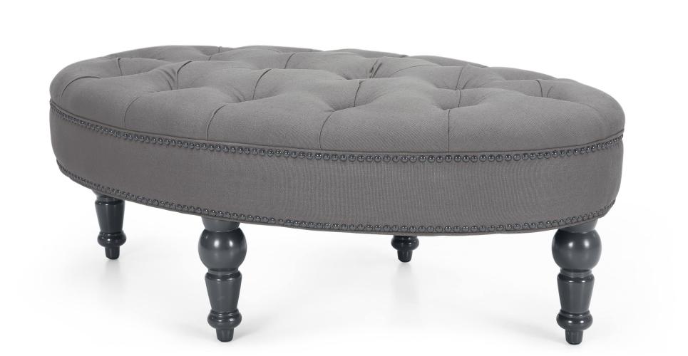 grey ottoman footstool