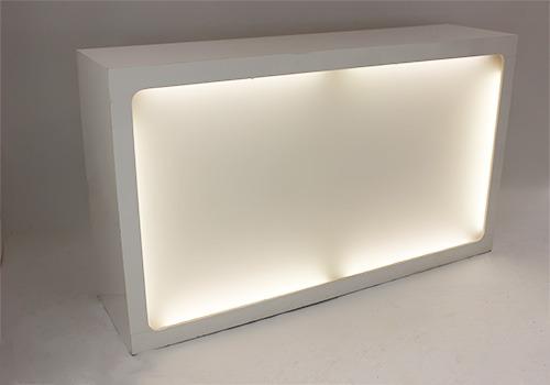 lit white bar section