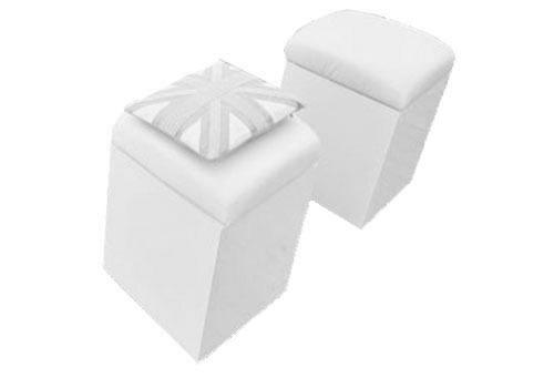 white cube seat