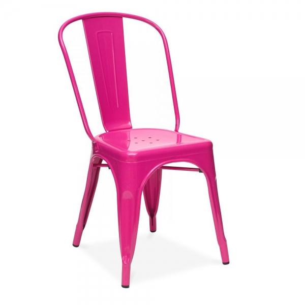hot pink cafe chair
