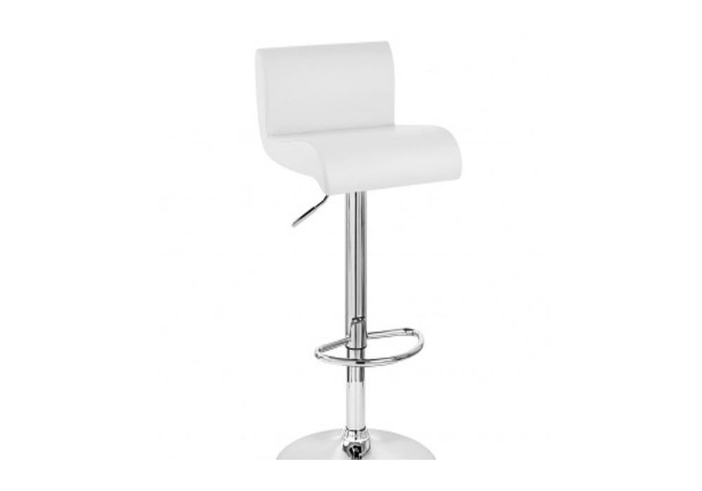 White on chrome bar stool