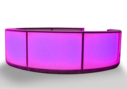 pink glowing bar