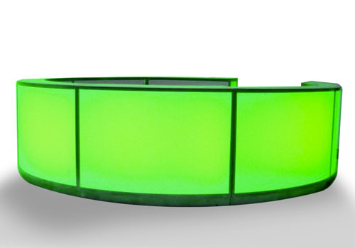 green glowing bar