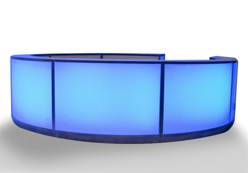 blue glowing bar