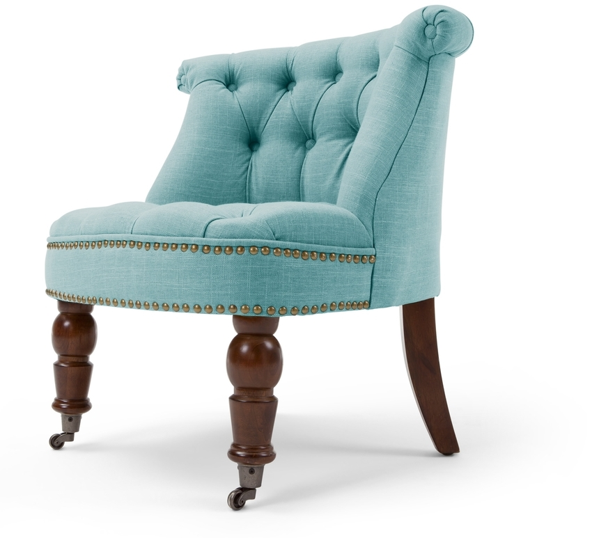 blue boudoir chair