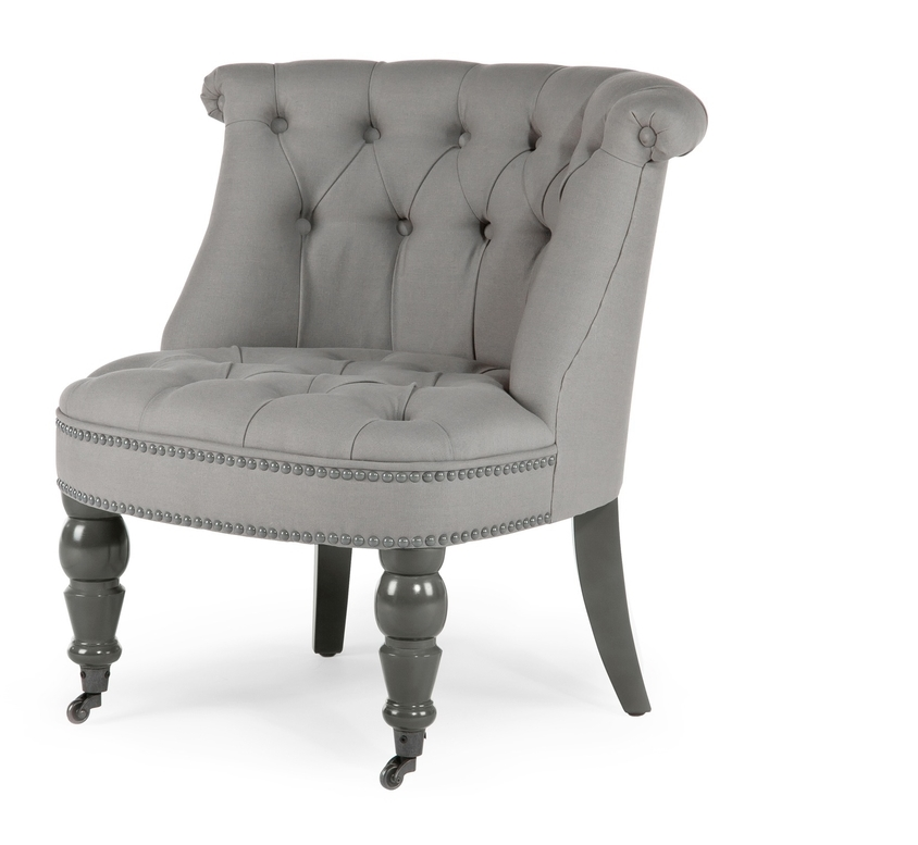 grey boudoir chair