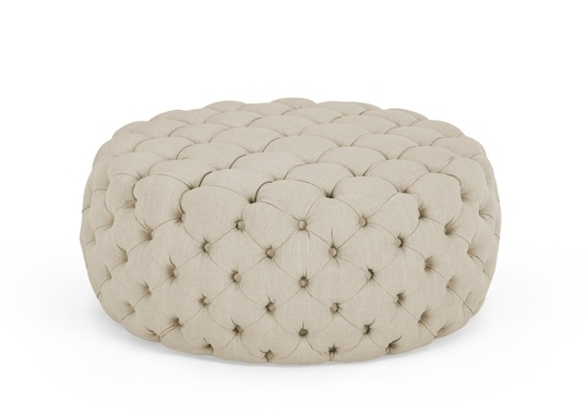 biscuit large round ottoman