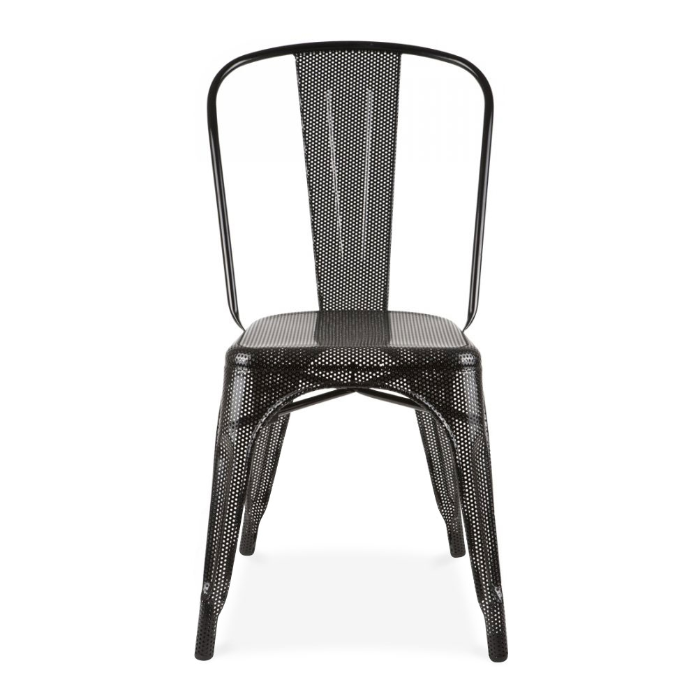 grey mesh cafe chair