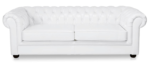 white three seater sofa