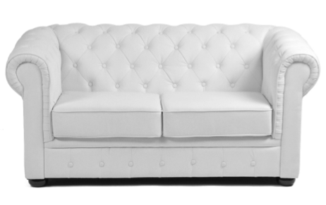 white two seater sofa