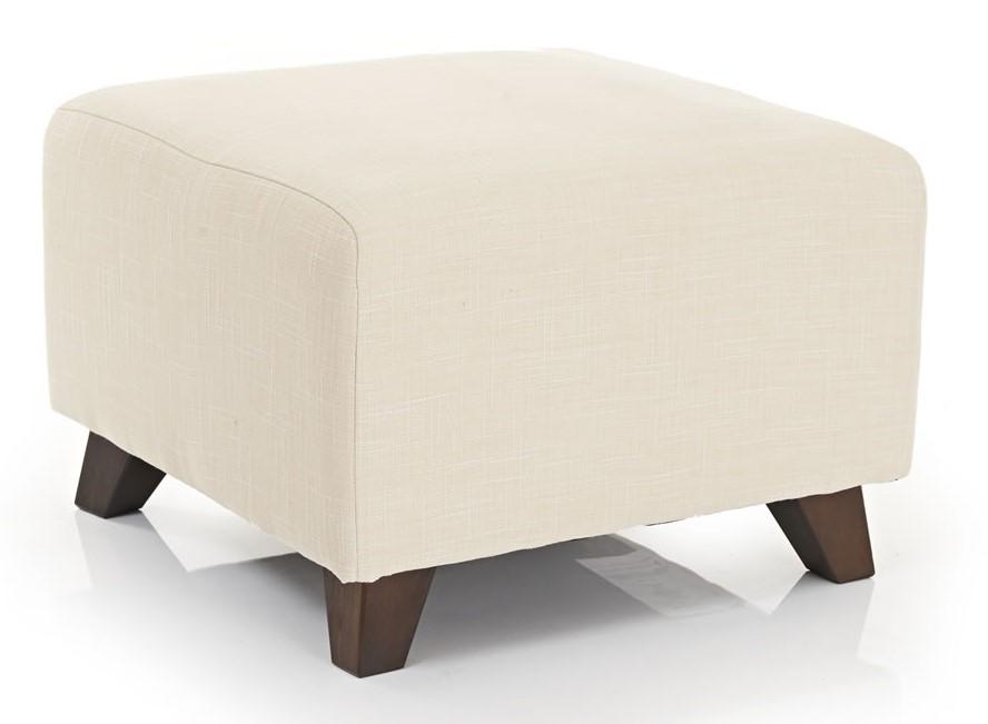 beige fabric cube seat