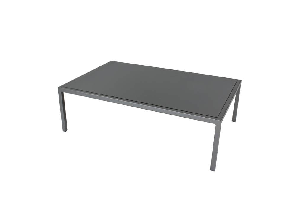 grey top with grey frame coffee table