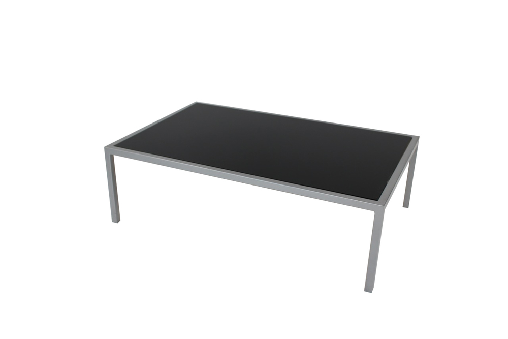 black top with grey frame coffee table