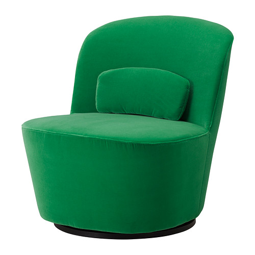 green velvet swivel chair