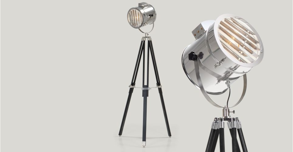 Vintage tripod floor light