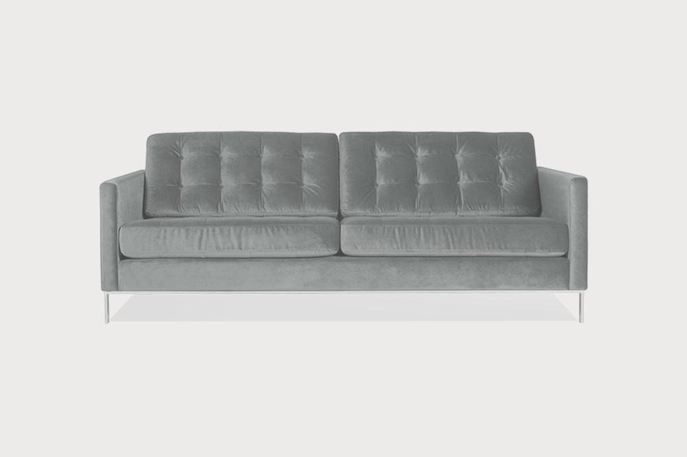 Velvet Button Back Sofa
