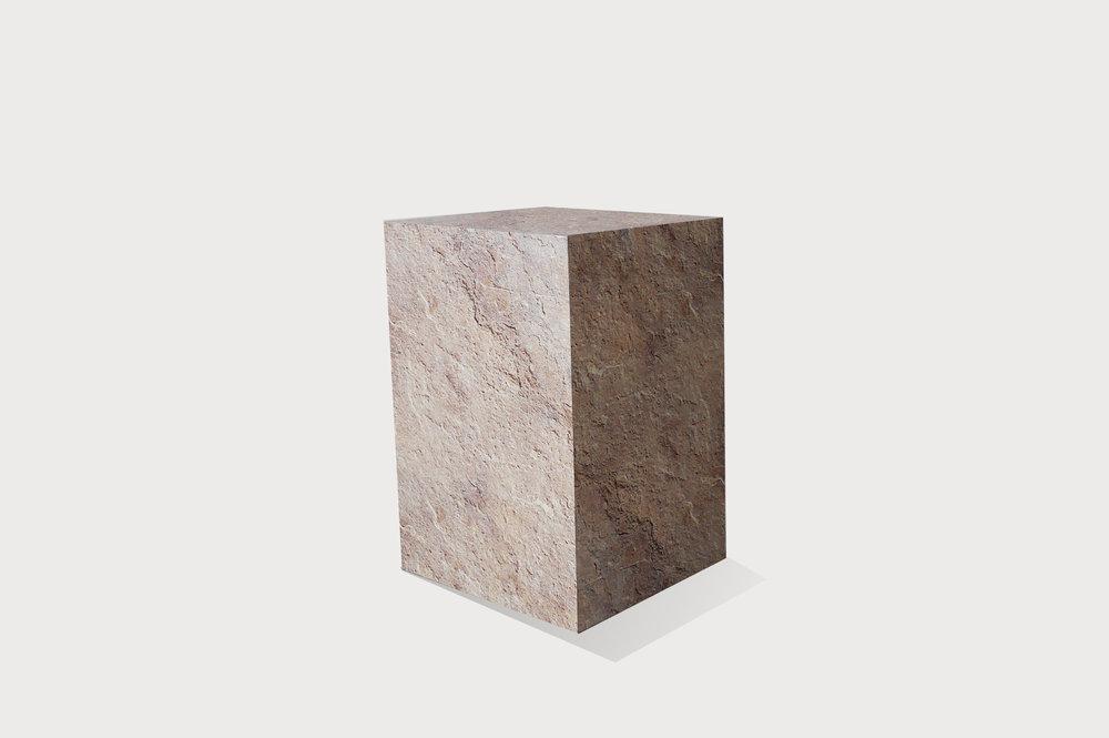 Stone effect plinth