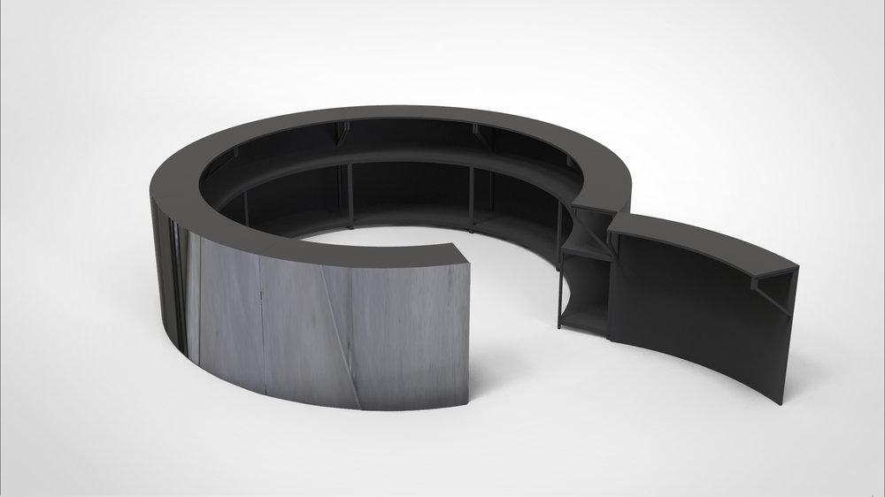 Circle bar black top