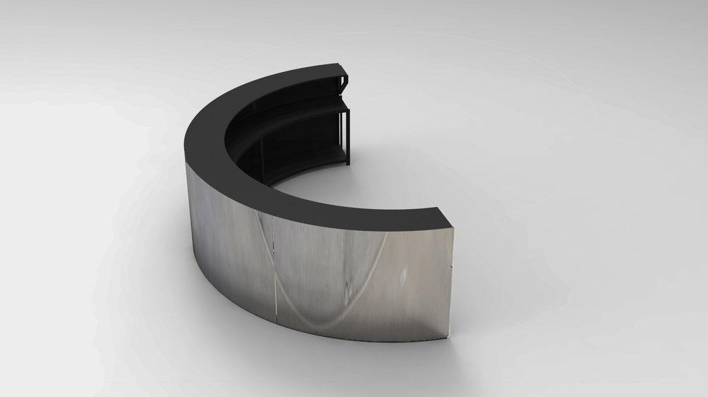 Semi-circle black top