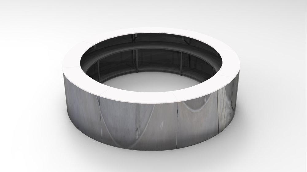 Circle bar white top
