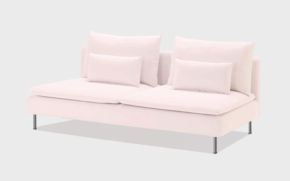 Pink cotton sofa