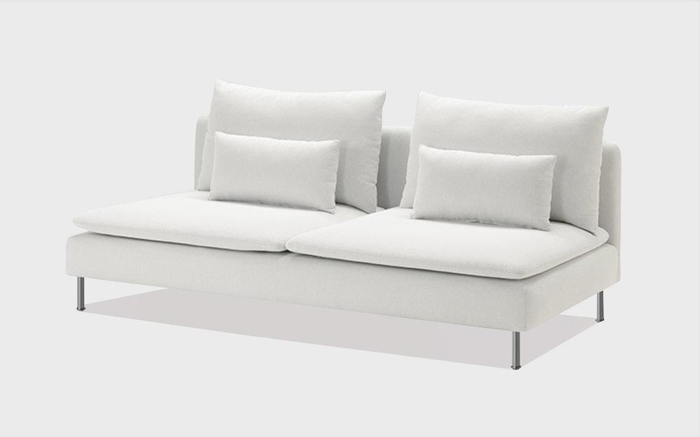 White cotton sofa