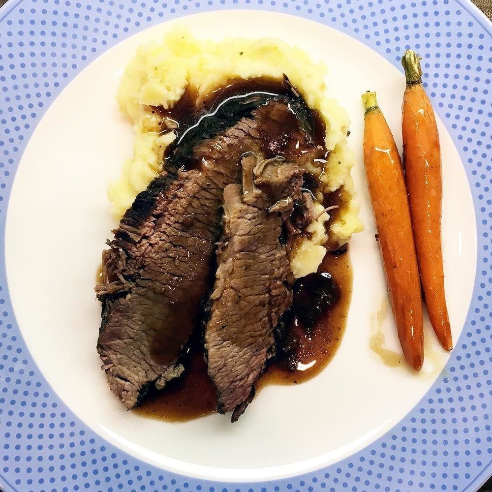 PW_d_brisket_but_in_the_IP__herbed_mashers__would_ve_IP-ed_these_if_my__2_wasn_t_making_yogurt___and_PW_Bourbon_glazed_carrots.__instantpot.jpg