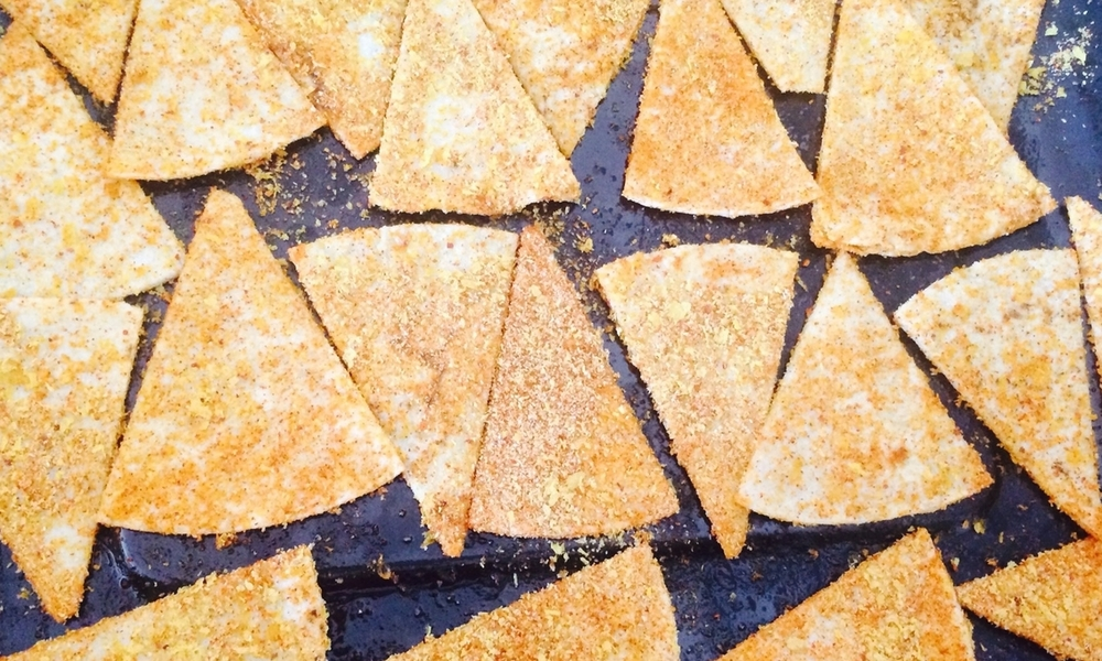 Not-fried Doritos make the best healthy afternoon snack!