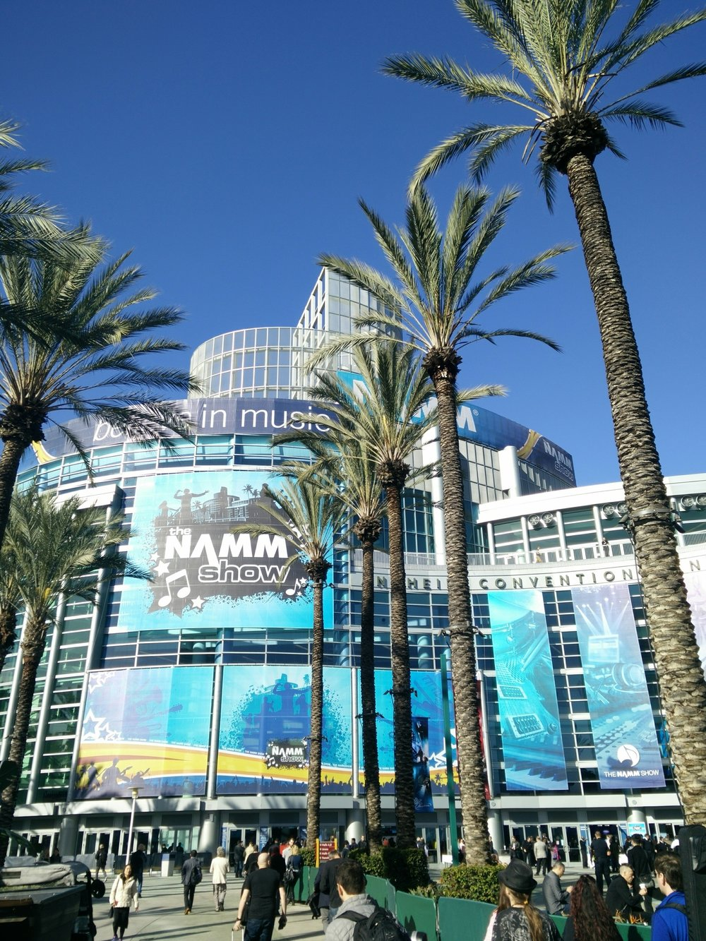 Anaheim Convention Center. It's across the street from Disneyland. Anaheim is 80's-era Hotels, chain family restaurants, and 6-lane streets. But there are palm trees. It's amazing what palm trees do to your state of mind.